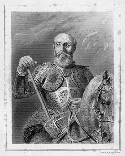 Jean Parisot De La Valette N(1494-1568) French-Born Grand Master Of The Knights Of Malta Engraving By Edouard-Henri Girardet For Les Galeries Historiques De Versaille 1838-49 Poster Print by (18 x 24