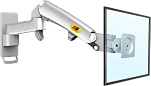NB North Bayou Full Motion Monitor Wall Mount Bracket for 24-35 Inch LCD LED Flat Screen with Weight Capacity 6.6lbs to 26.5lbs (Double Extension) F300-S