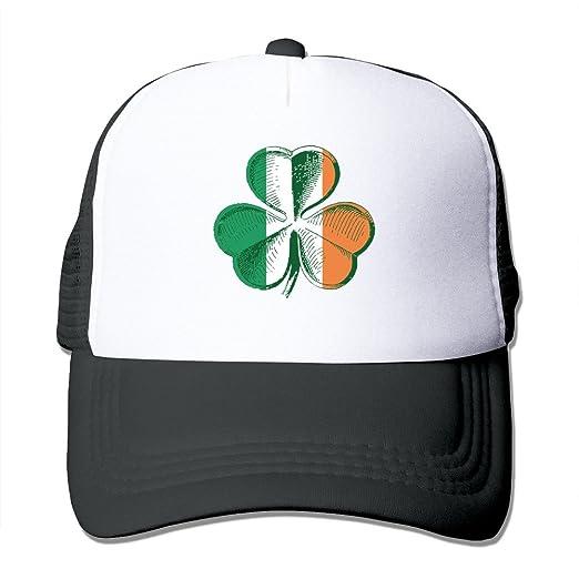 Cool Ireland Shamrocks Saint Patrick s Day Adult Mesh Trucker Hat Cap One  Size Black 6dc928fc0f9