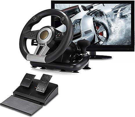 Volante de juego Juego de pedales y volante - Soporte para PC ...