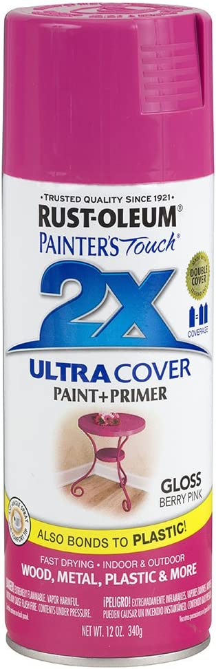 Rust-Oleum 249123 Painter's Touch Multi Purpose Spray Paint, 12-Ounce, Berry Pink