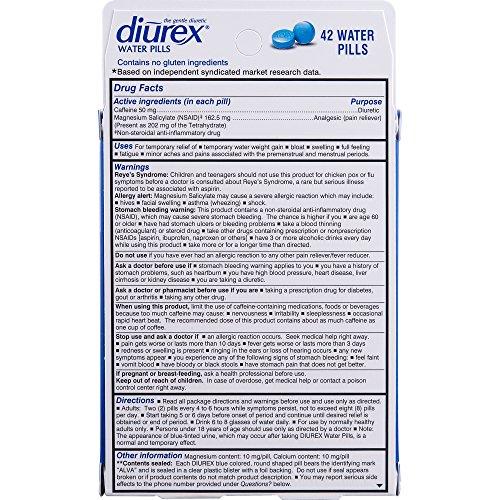 Diurex Water Pills, 42 Count Pills (Pack of 3) by Diurex (Image #2)