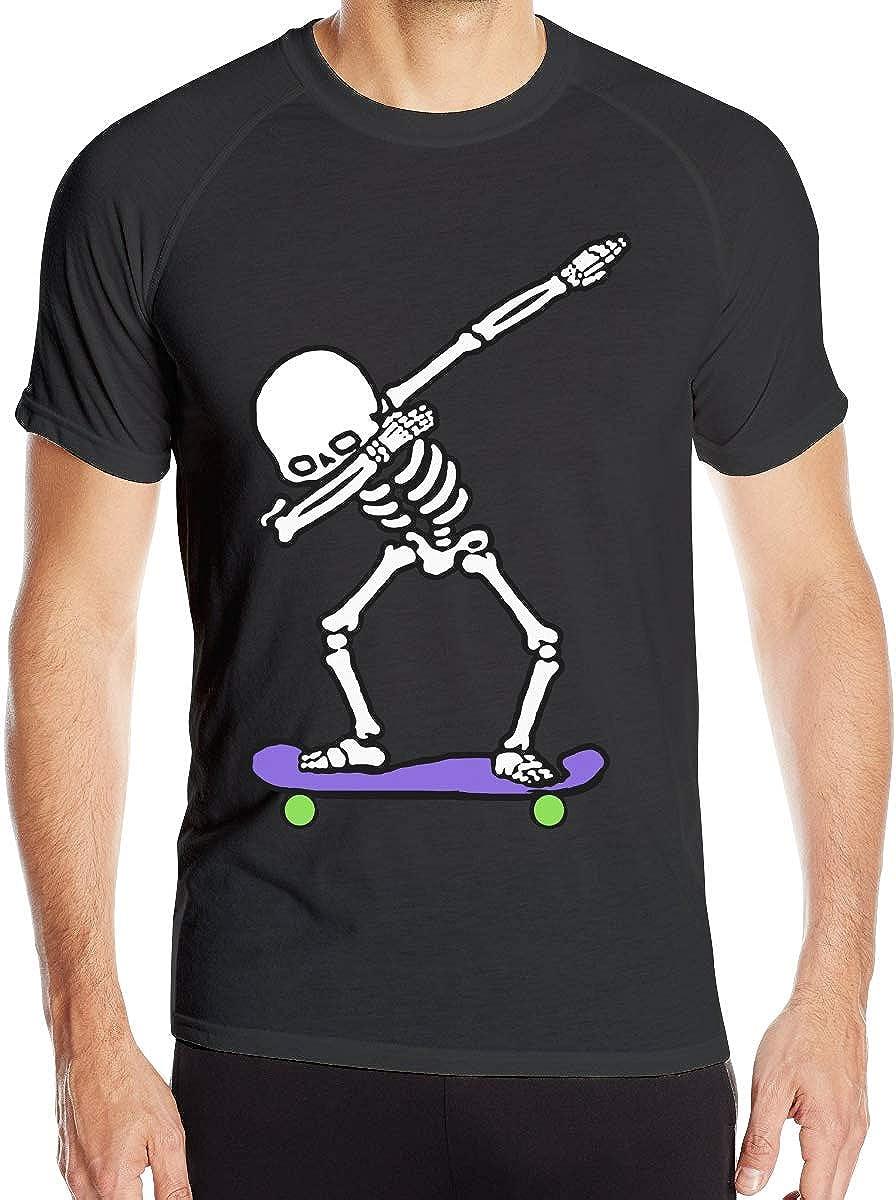 Dabbing Skeleton Skateboard Camisetas de Manga Corta para Hombre Camisetas de Entrenamiento de Secado r¨¢Pido: Amazon.es: Ropa y accesorios