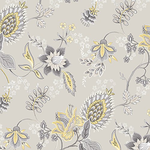 Norwall GC29829 Jacobean Floral Wallpaper