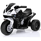 HONEY JOY Kids Ride On Motorcycle, 6V Battery Operated 3 Wheels Toy Tricycle with Headlight & Music, Foot Pedal…