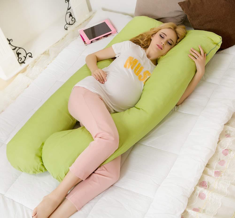 Amazon.com: WLYF - Almohada para embarazo, en forma de U y ...