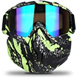 Freehawk Motorcycle Goggle Mask - Motorcycle Glasses with Detachable Mask for Desert Offroad Riding/Skiing/Snowmobile…
