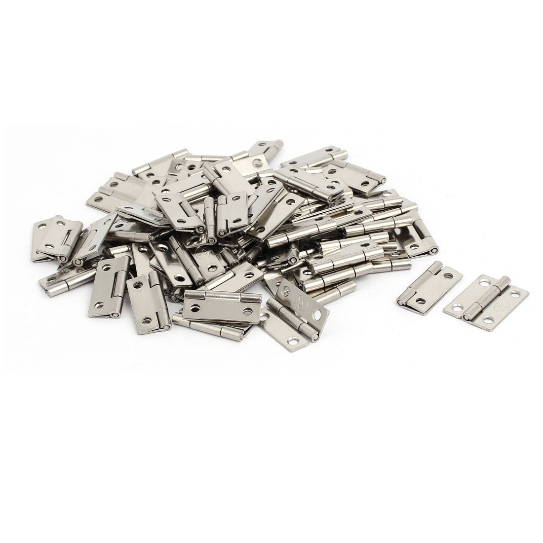 uxcell Jewelry Gift Box Case Stainless Steel Butt Hinges Silver Tone 1'' Length 100pcs