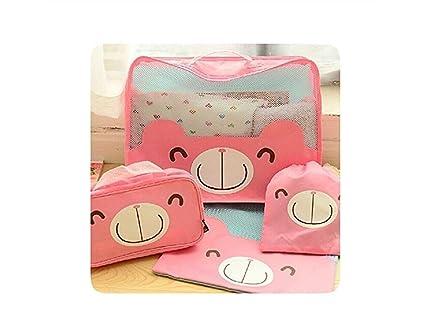 Baño Paquete de ropa interior de ropa impermeable Paquete Bolsa de viaje de almacenamiento (rosa