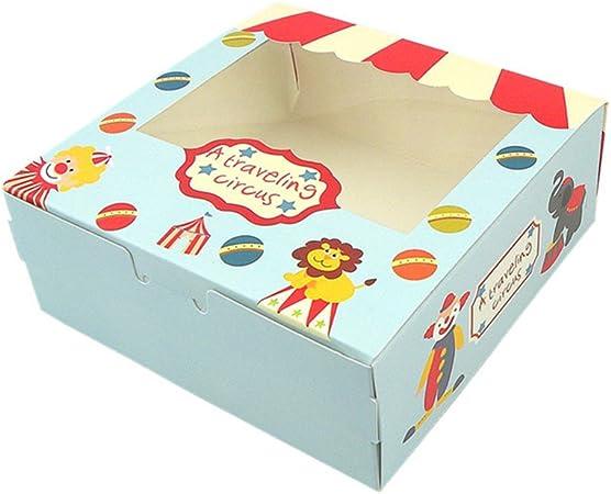 Caja de 4 agujeros cavidades moldes de papel para magdalenas Cupcake pasteles embalaje, juego de 12: Amazon.es: Hogar