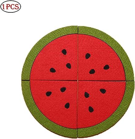 past/èque antid/érapant et r/ésistant /à la Chaleur pour Assiettes /à Cup-Bols ouken Tapis de Coaster antid/érapant Motif Fruits Multicolore