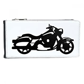 Amazon.com: Motorcycle Mechanical Silhouette Pattern Multi-Card Faux Leather Rectangle Wallet Card Purse Gift: diythinker