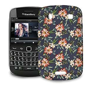 Phone Case For BlackBerry Bold 9900 / 9930 - Hawaiian Dark Flowers Hard Hardshell by lolosakes