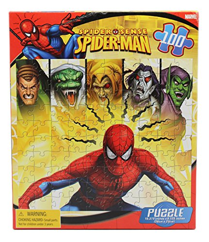 Spider Sense Spider-Man Detecting Villains Kids Jigsaw Puzzle (100pc)