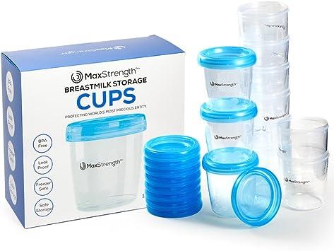Juego de recipientes de almacenamiento para leche materna con ...