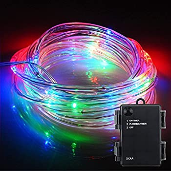 Amazon er chen solid tube led fairy string lights 164ft 50 er chen solid tube led fairy string lights 164ft 50 leds battery operated waterproof aloadofball Images