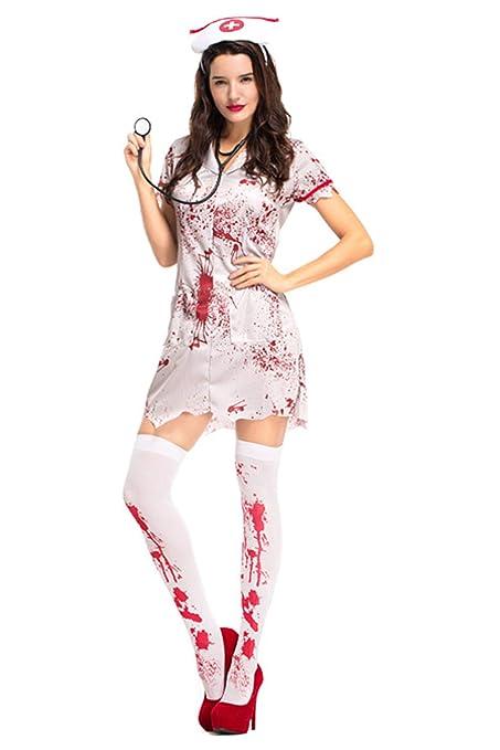 Amazon.com: Dark Paradise Halloween - Vestido de enfermería ...