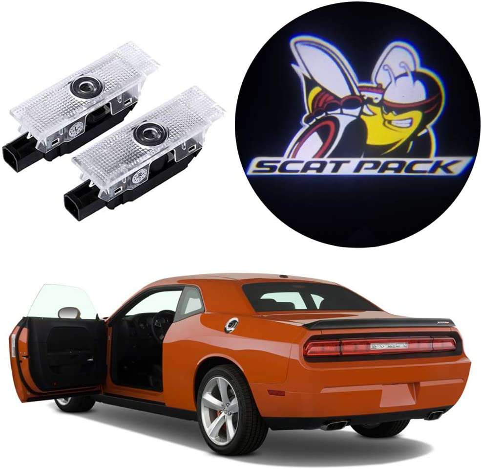 2X Ultra-Bright LED Ghost Shadow Lights Car Door Courtesy Lamps ...