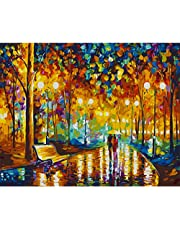 """COLORWORK DIY Paint by Numbers, Canvas Oil Painting Kit for Kids & Adults, 16"""" W x 20"""" L Drawing Paintwork with Paintbrushes"""
