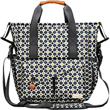 Hap Tim Multi-Function Baby Diaper Bag with Stroller Straps & Accessories-- Changing Pad -- Insulated Pockets -- Waterproof Nylon Fabric (5283 GoldGray)