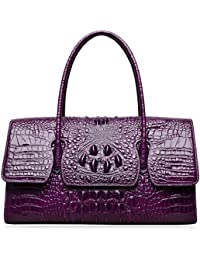 Womens Top Handle Handbags and Purses Crocodile Bags for Laides 27006