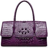 PIJUSHI Womens Top Handle Handbags and Purses Crocodile Bags for Laides 27006