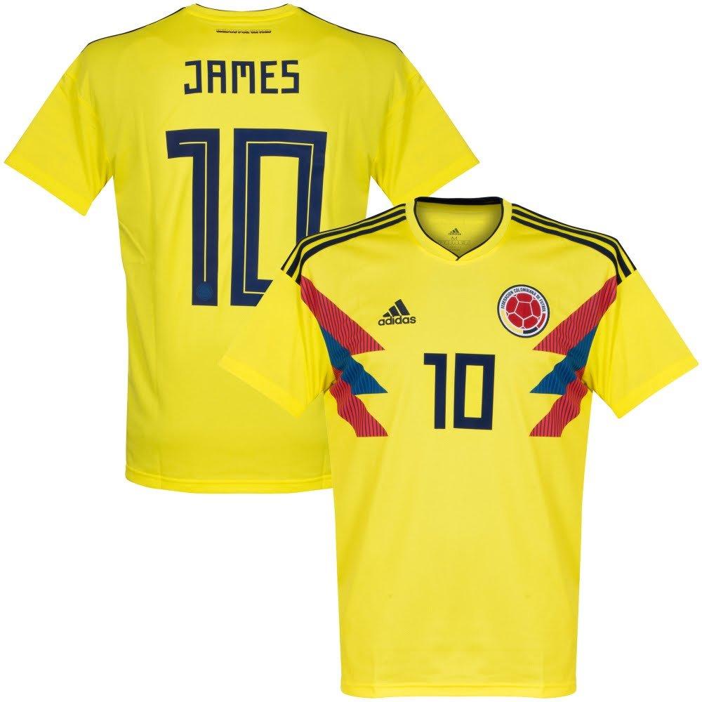 Kolumbien 2018 Home Trikot 2018 Kolumbien 2019 + James 10 7feee7