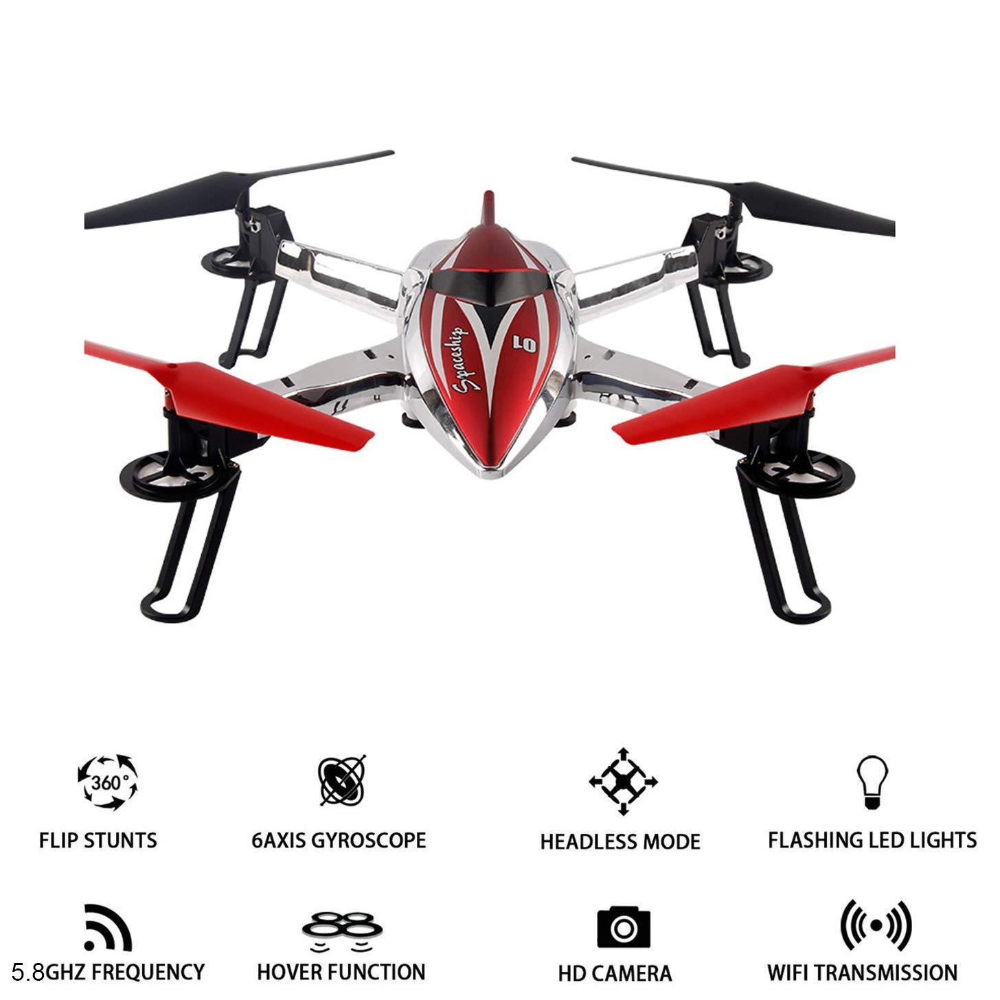 Four 5.8 G WiFi FPV Drone y cámara, cámara HD RC Quadcopter Gravedad Sensor de Altura Mantener 3D Flip Roll 6 Ejes giroscopio RTF RC Drone