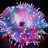 AWART Light201810252039 LED String Lights 65.6 Feet 200 LED with 8 Flashing Modes Fairy Twinkle Decorative Light for Party, Wedding, Chirstmas Tree, Patio, Home and Garden Decoration (Multi-color Brightness)
