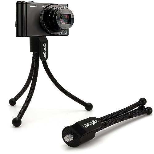 iGadgitz Flexible Mini Table Top Tripod for Digital Compact Cameras with Pocket Clip – Black