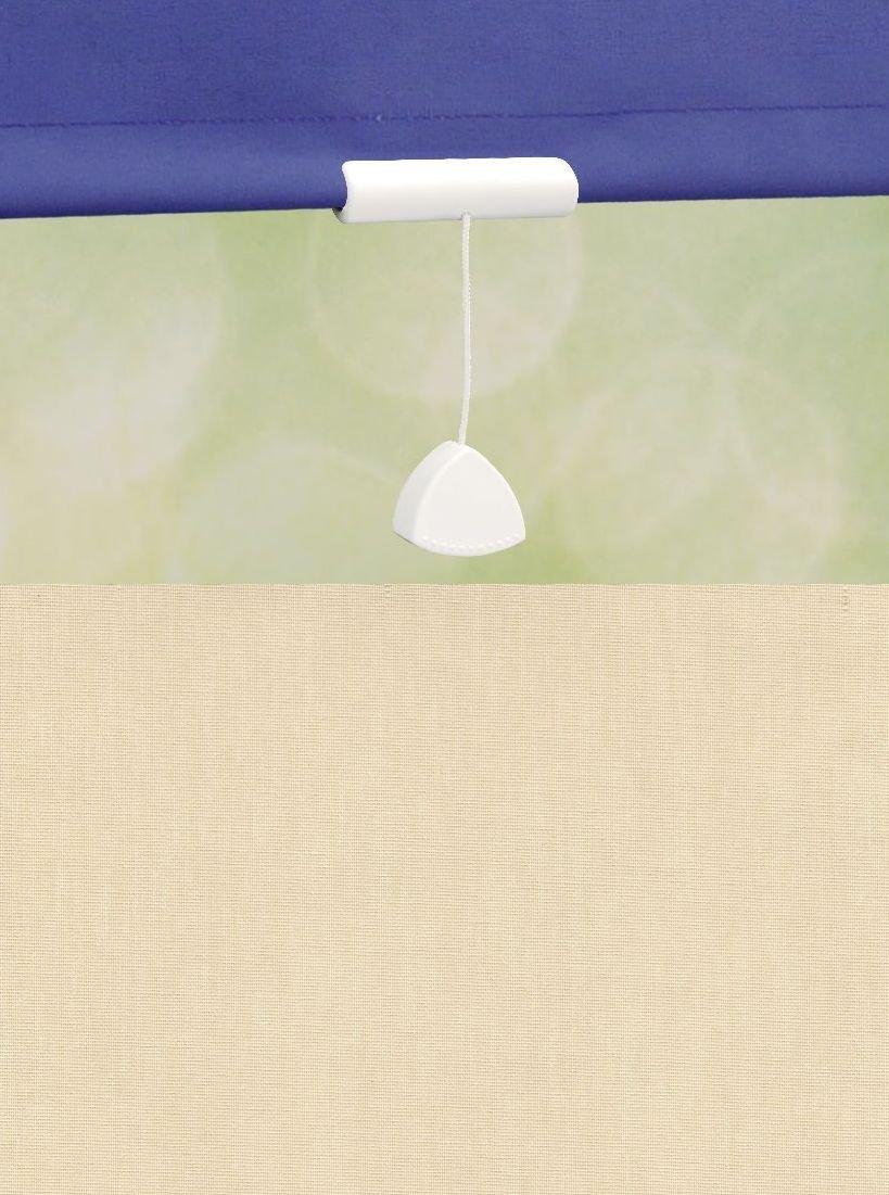Deko-raumshop Springrollo Mittelzugrollo Schnapprollo Rollo Beige Sand Breite 60-240 cm Länge 180 cm Blickdicht Lichtdurchlässig Sonnenschutz Sichtschutz (182 x 180 cm)