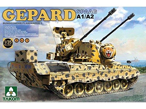 Takom Tak 2044 Model Kit German Flak Panzer 1 Cheetah SPAAG A1 A2 2 in 1 Game