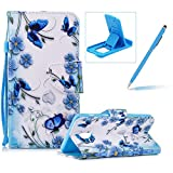 Strap Leather Case for Samsung Galaxy A8 2018,Flip Portable Carrying Case for Samsung Galaxy A8 2018,Herzzer Premium Stylish Colorful Printed Foldable Full Body Folio Pu Leather Stand Cover with Card Slots