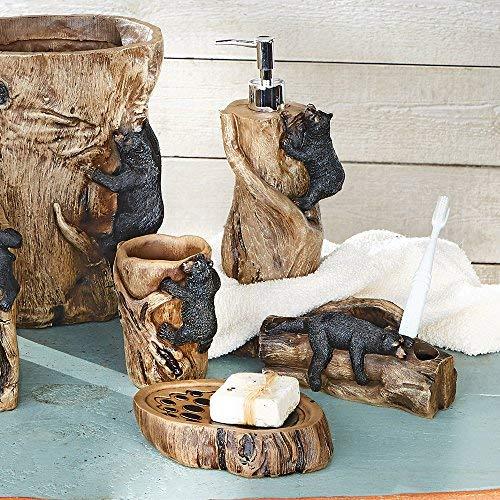 BLACK FOREST DECOR Climbing Black Bears Bath Set - Set of 4