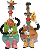 Appletree Design Mandolin and Country Guitar Salt and Pepper Set, 5-Inch, 5.2-Inch