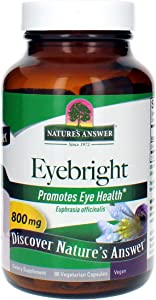 Nature's Answer Eyebright Herb | Supports Healthy Eyes & Vision | Non-GMO | Alcohol-Free, Gluten-Free, Kosher Certified & No Preservatives 90ct Capsules