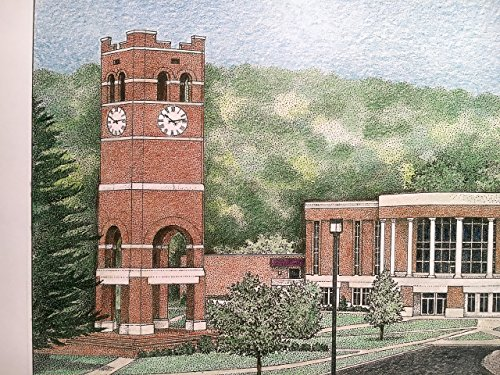 Western Carolina University - Bell Tower 11''x14'' pen and ink print by Campus Scenes (Image #8)