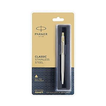 Blue 2 X Parker CLASSIC Gold GT Ball Pen Gold Stainless Steel Body JOTTER