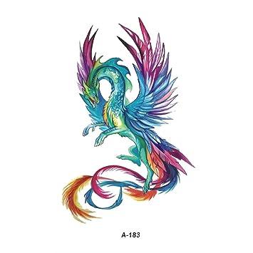 Wyuen 5 Blatter Wasserdicht Phoenix Tattoo Fake Tattoo Aufkleber Fur