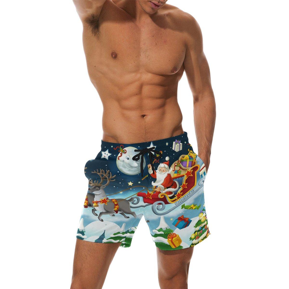 0dbb405fde COOSUN Men's Christmas Santa Claus Beach Board Shorts Quick Dry Swim Trunk:  Amazon.co.uk: Clothing