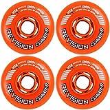 Revision Wheels Inline Roller Hockey Clinger Orange 80mm 82A 4-Pack