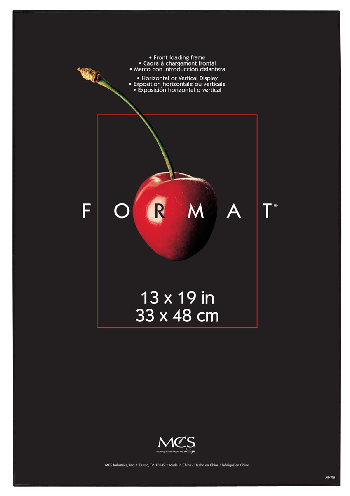 MCS 13x19 Inch Format Frame 6-Pack, Black (53936)