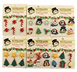 Buttons Galore CMGROUP Christmas 3D Buttons (Set of 6)