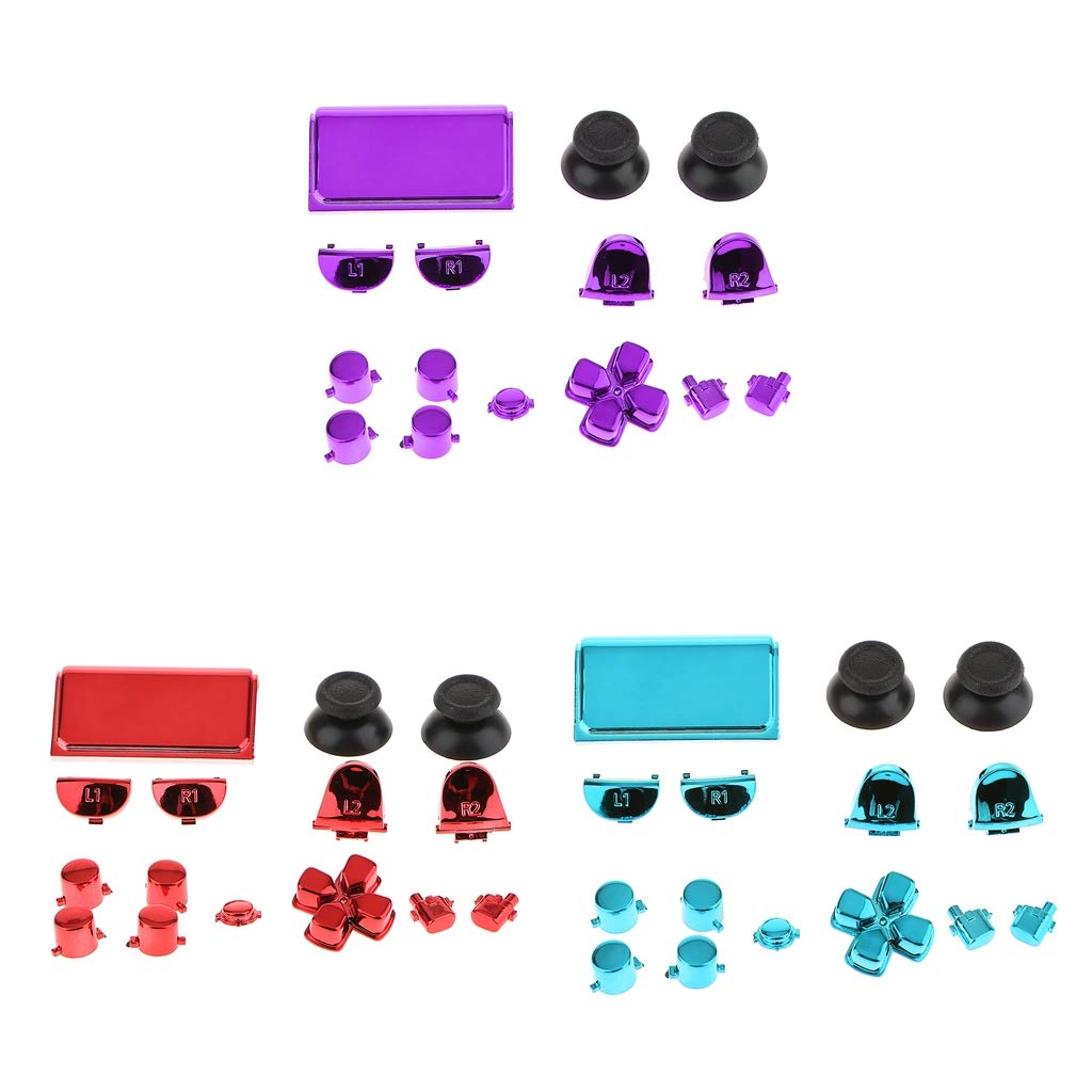 Baoblaze 3 Packs Replacement Full Buttons Custom Mod Kit