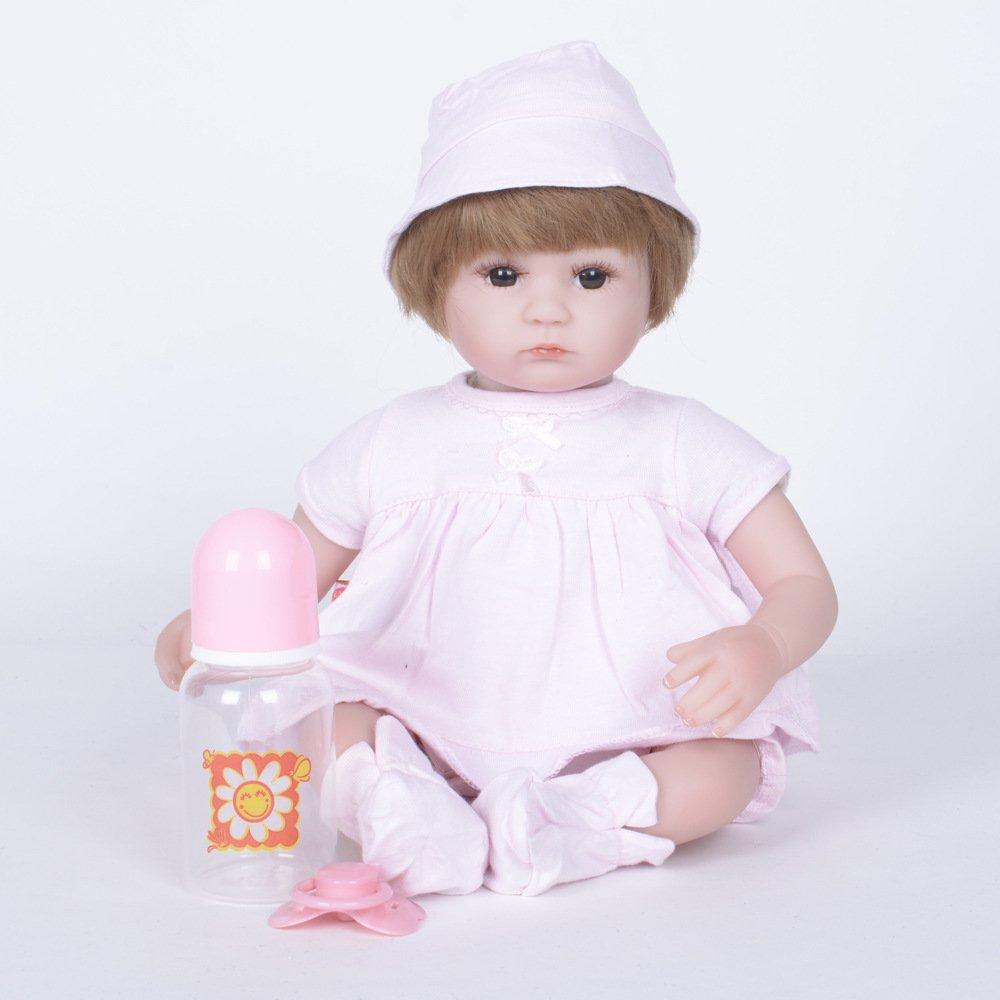 Barato Nurturing Dolls Muñeca Reborn De La Vida Real Soft Vinilo De Silicona 42cm Lifelike Recién Nacido Bebé Regalo De Juguete