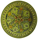 Moroccan Ceramic Plate Handmade Deep Serving Dinnerware 16 Inches Diameter
