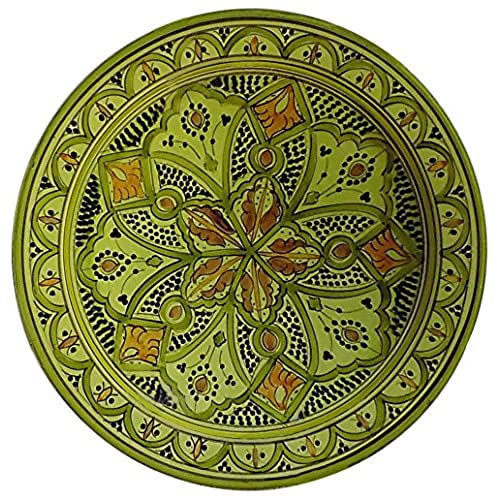 Ceramic Plates Moroccan Handmade Serving Wall Hanging Exquisite Colors Decorative 14 inches Diameter  sc 1 st  Amazon.com & Ceramic Decorative Plates: Amazon.com