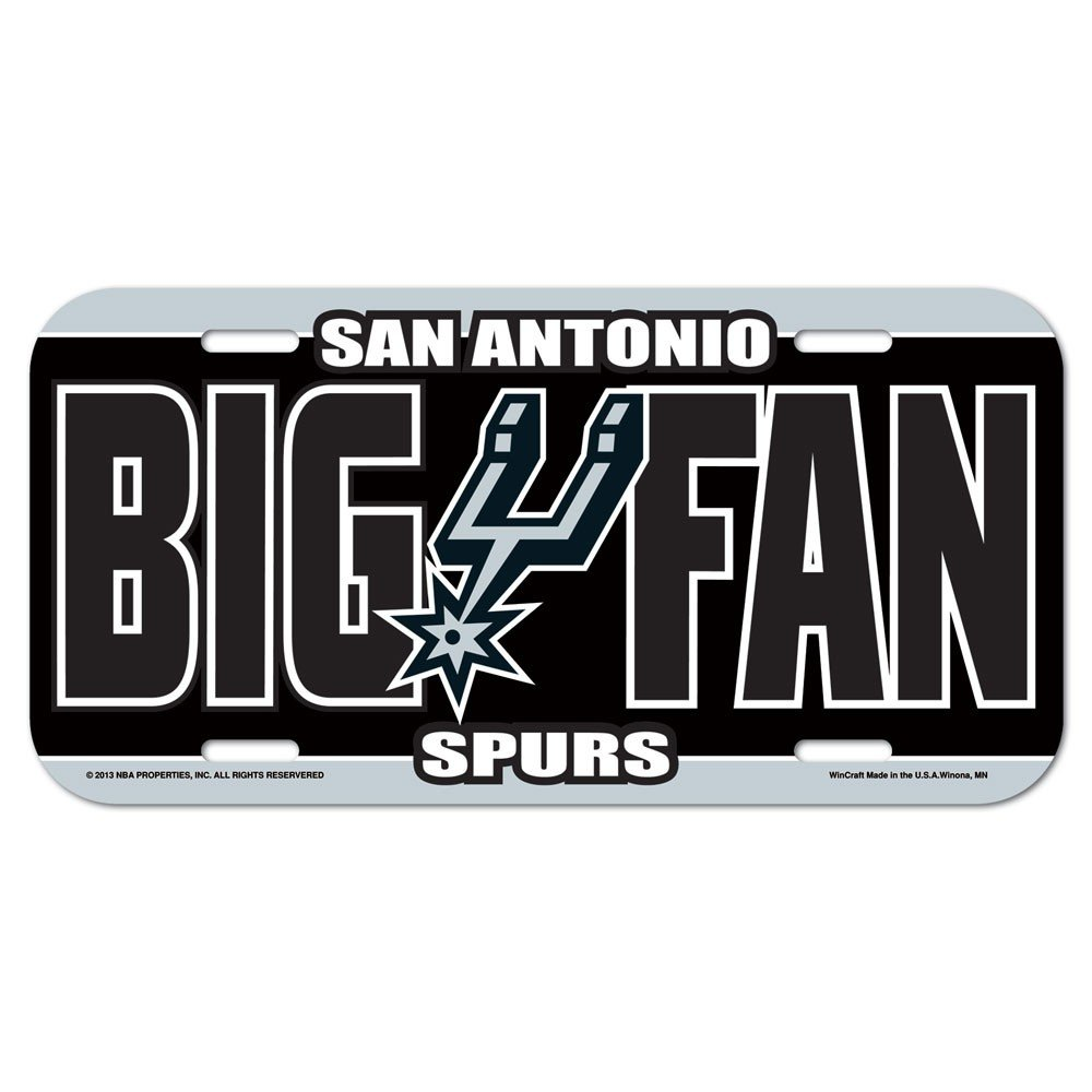 'Prodotto ufficiale 'NBA San Antonio Spurs Schild, Lavagna in 15 x 30 cm Lavagna in 15x 30cm WinCraft 84273714
