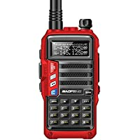 A-TION Walkie Talkies, Long Range Rechargeable Walkie Ttalkie with LED Light, Dual-band handheld transceiver with LCD…
