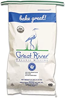 product image for Great River Organic Milling, Whole Grain, Soft White Winter Wheat, Organic, 25-Pounds (Pack of 1)